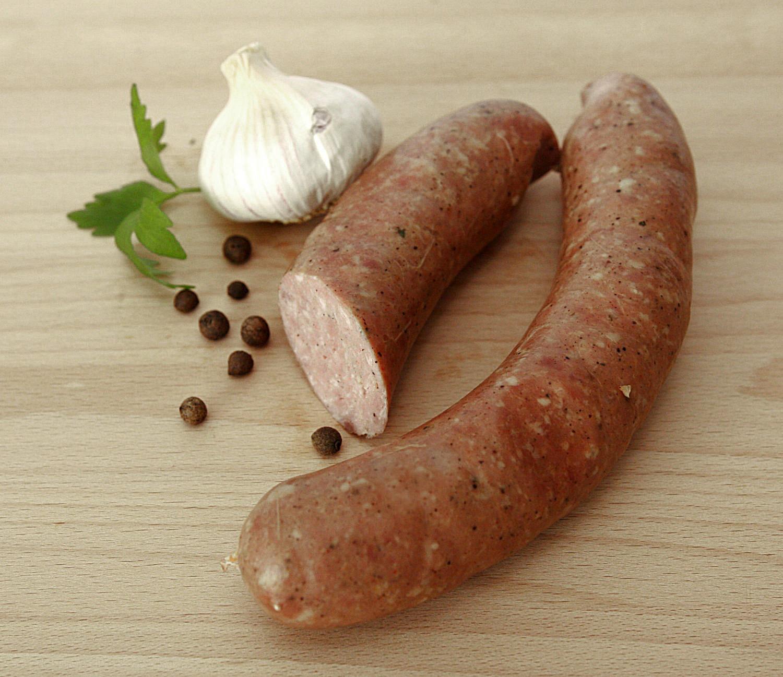 kiełbasa bychowska czosnkowatypowa wiejska kiełbasa, z wyrażnym smakiem czosnkowym, wędzona, parzona i ponownie wędzona.